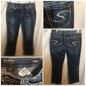 Silver Jeans SUKI MID CAPRI size 30